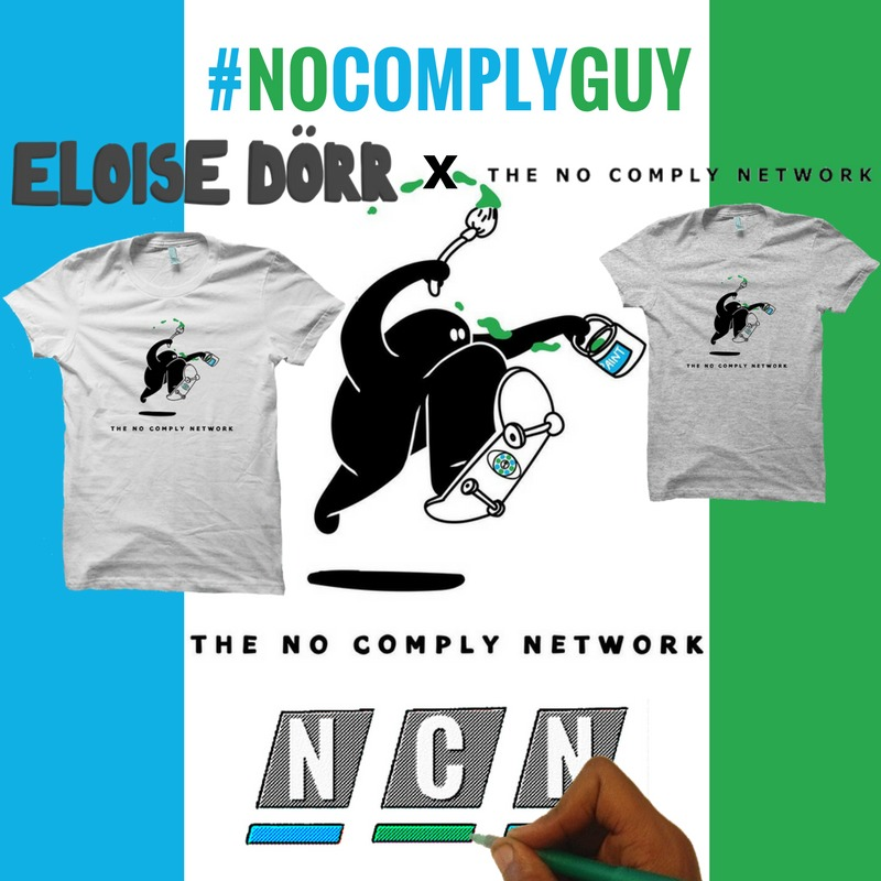 No Comply Guy Tee