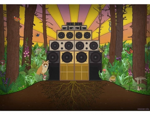 My newest pic I've done, featuring the mighty Real Roots Soundsystem