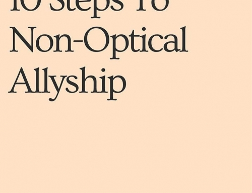 10 STEPS TO NON-OPTICAL ALLYSHIP (6-10 of 10) @mireillecharper @britishvogue