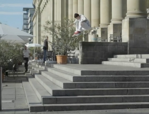 JUSTIN With a FS FLIP at Stuttgart's legendary Schloßplatz set. See his full par