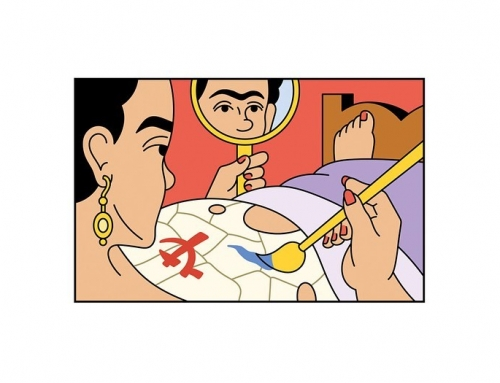 An illustrated biography of Frida Kahlo for @zeit Leo