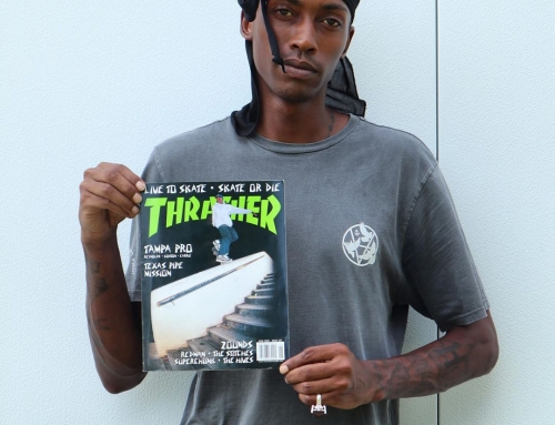 interview in the new issue of Thrasher Magazine, & I'm still rootin' for ya !