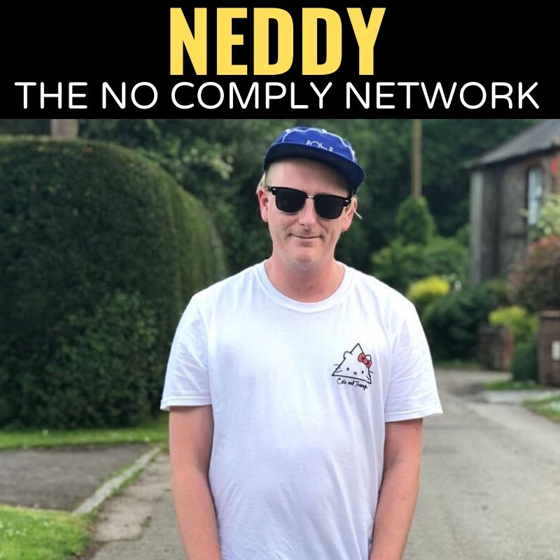 Neddy The No Comply Network Graphic