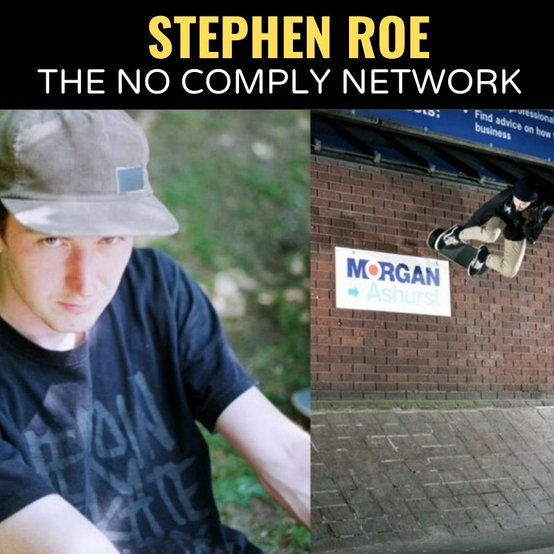 Stephen Roe The No Comply Network Graphic