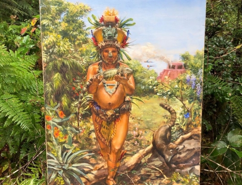 Mayan on day of the zenith. This was painted for my class on Mesoamerican cultur…