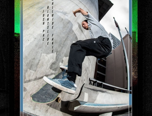 Josh Paz, blunt slide to wallride fakie at one of those spots in the city that n