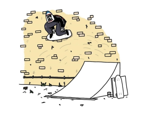 Filmed my friend Max boosting some huge wallrides the other day, had to draw one