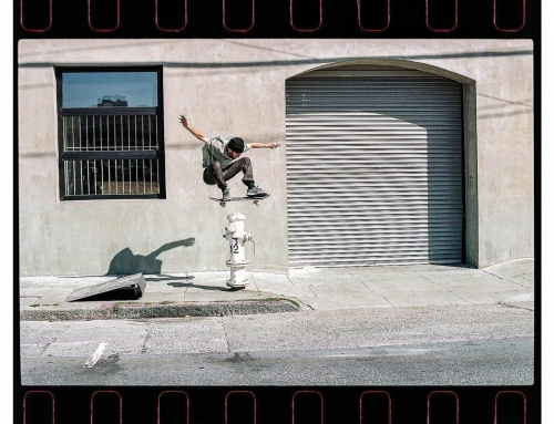 Harry Hafner, ollie and a giant hydrant. Photo: Daniel Beck.