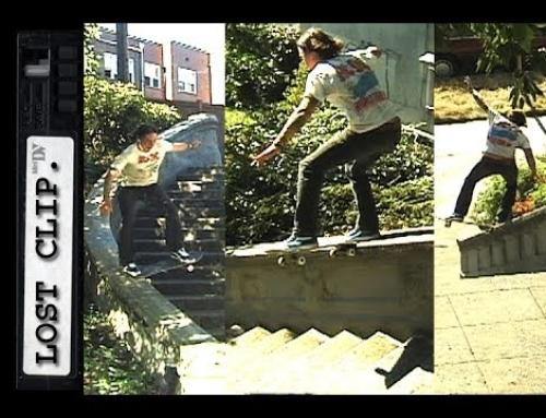 Noseslide Down 3 Crazy Hubbas in Seattle Lost & Found Skateboarding Clip #32