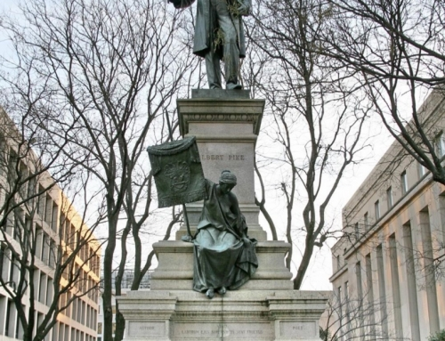 The Albert Pike sculpture is the only outdoor statue in the nation's capitol hon