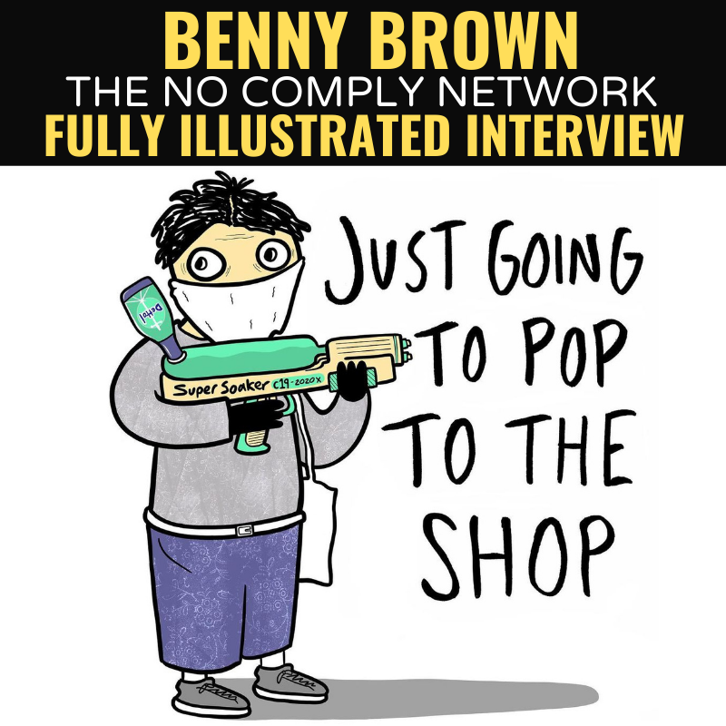 Benny Brown Fully Illustrated Interview Graphic